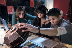 WU_01951_R(l-r.) Joey King stars as Claire, Alice Lee as Gina and Ki Hong Lee as Ryan in WISH UPON, a Broad Green Pictures release.Credit: Steve Wilkie / Broad Green Pictures
